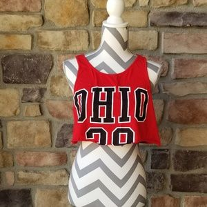 OHIO STATE CROP TOP